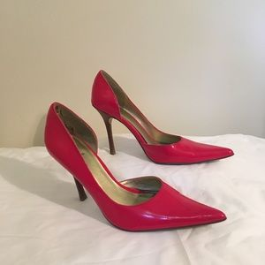 Red Patent Leather Stilettos Bakers